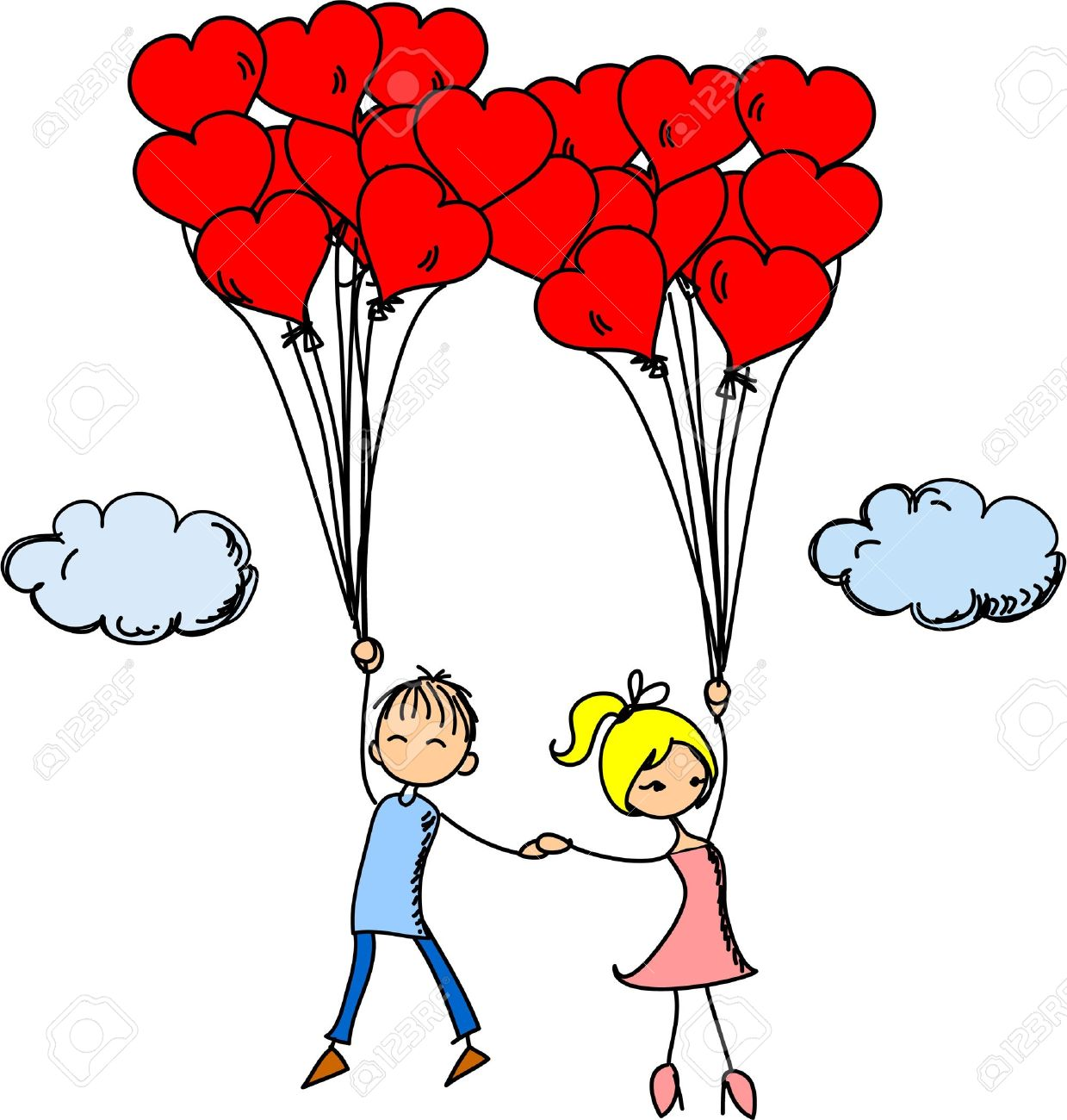 boy and girl in love clipart album on.