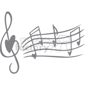 love song notes clipart. Royalty.