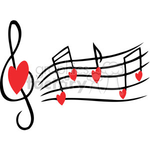 love song clipart. Royalty.