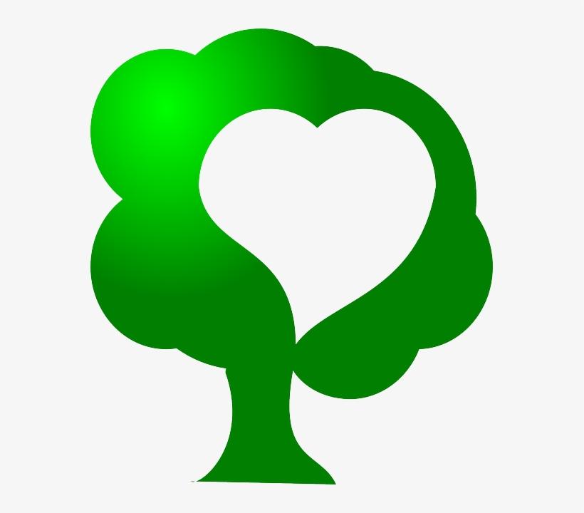 Green, Icon, Tree, Heart, Love, Save, Environment,.