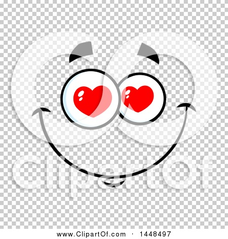Clipart of a Loving Face with Heart Eyes.