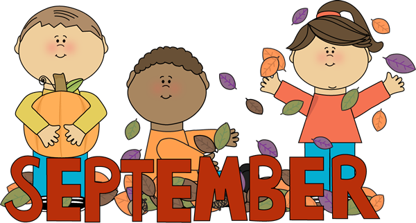 September Cartoon clipart.