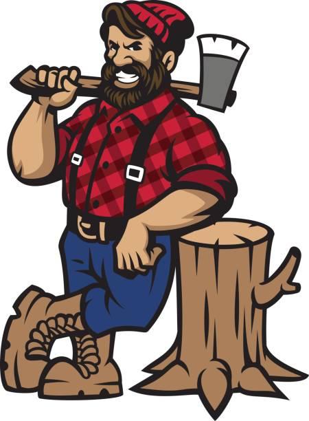 Best Lumberjack Illustrations, Royalty.