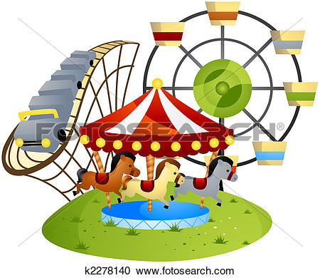 Clipart of Park Ride k4814961.