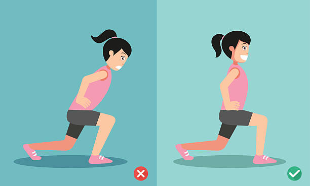 Best Lunges Illustrations, Royalty.