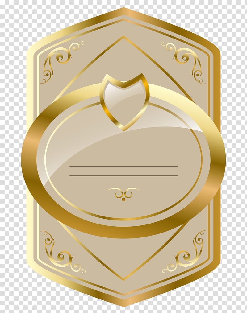 Brown card illustration, , Cream and Gold Luxury Label.