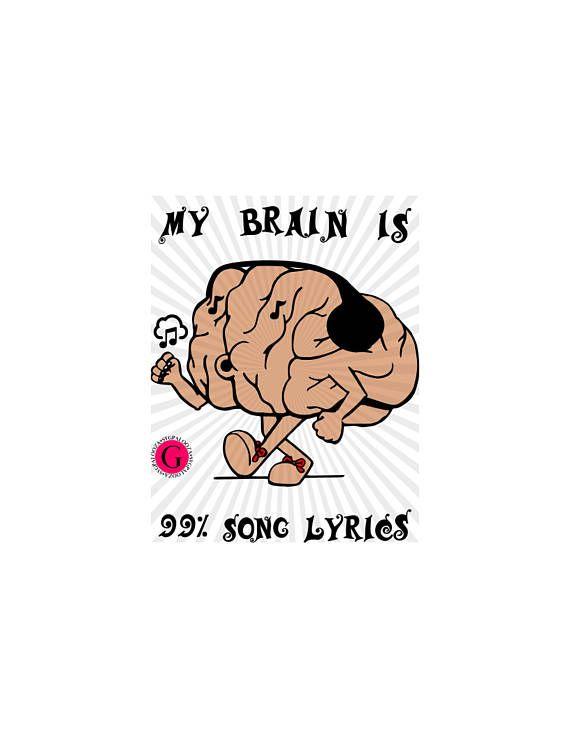 Song lyrics music lover gift cricut svg download design, dj.