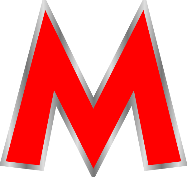 Red M Clip Art at Clker.com.