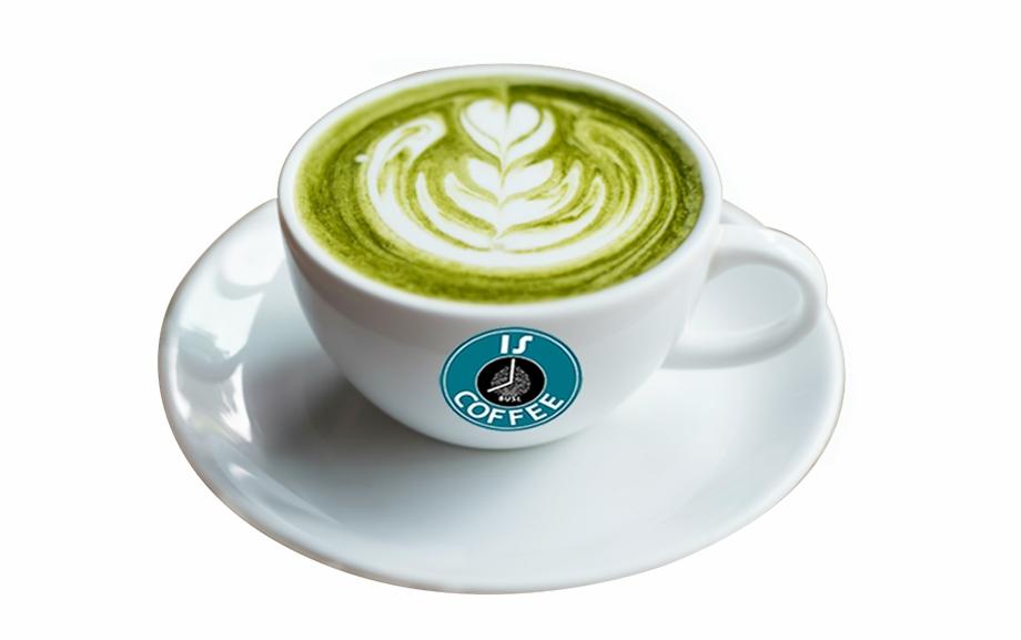 Hot Macha Green Tea Latte Mat Cha.