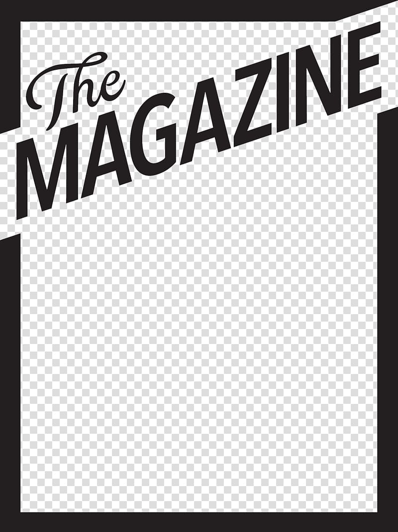 Blue background The Magazine text overlay, Magazine Book.