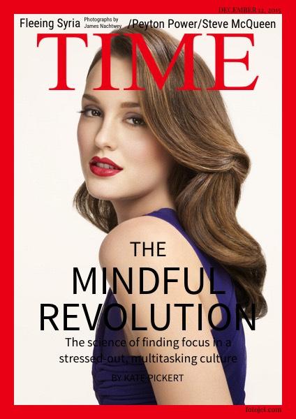 Fake Time Magazine Cover Design Template.