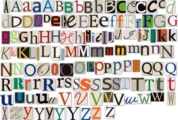 Magazine Letters Clipart Clip Art, Newspaper Magazine Alphabet.