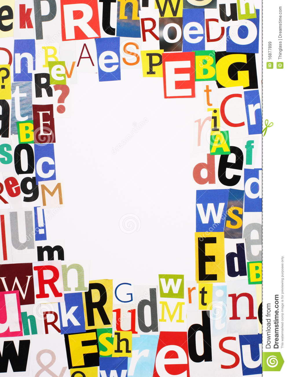 Magazine Letters Border Royalty Free Stock Images.