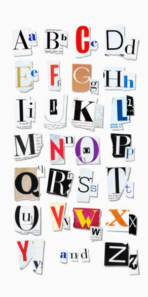 Magazine Letters Clipart Clip Art Newspaper Magazine by PinkPueblo.