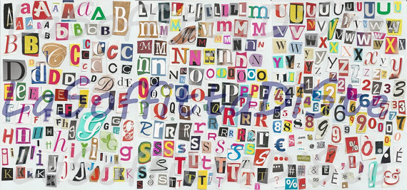 magazine letters instant download alphabets number ransom note.