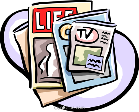 magazines Royalty Free Vector Clip Art illustration.