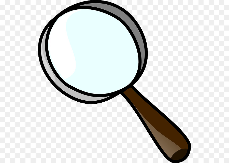 Magnifying Glass Cartoon clipart.