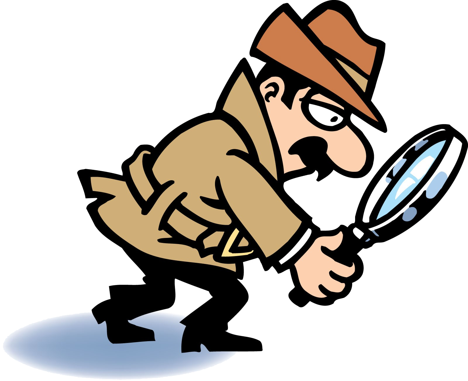 Magnifying Glass Detective With Clipart Transparent Png.
