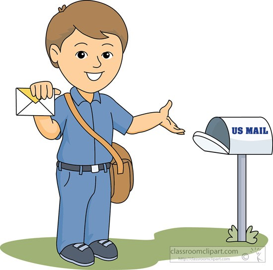Mail carrier delivering to mailbox » Clipart Portal.