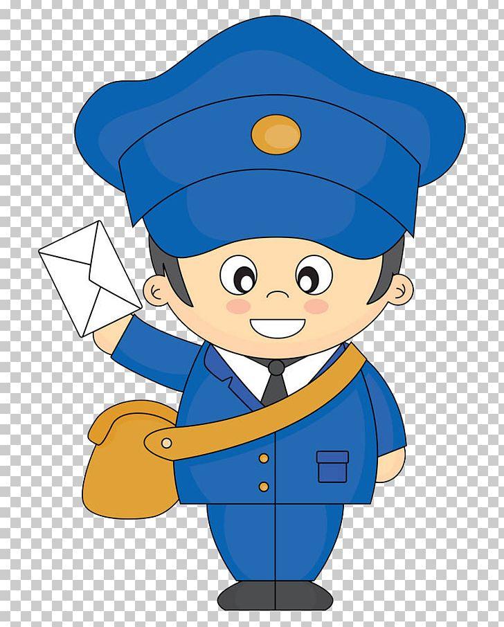 Cartoon Mail Carrier PNG, Clipart, Blue, Blue Backgroun, Boy.