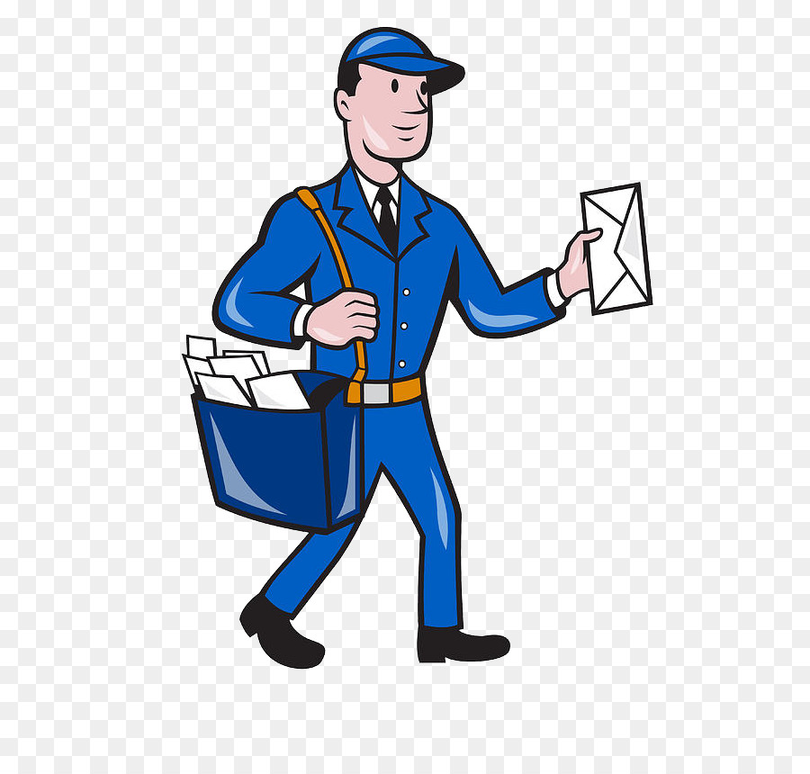 Mail Carrier Standing png download.