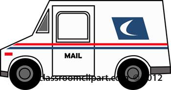 Postal Van Clipart.