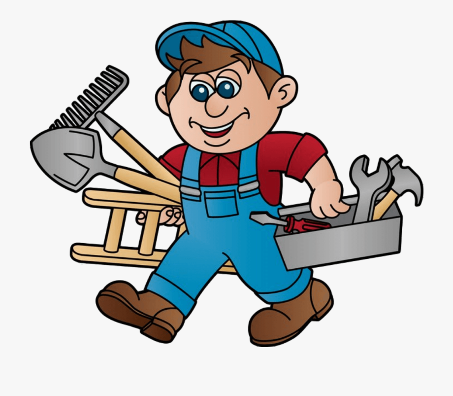 Handyman Clipart Pool Maintenance.