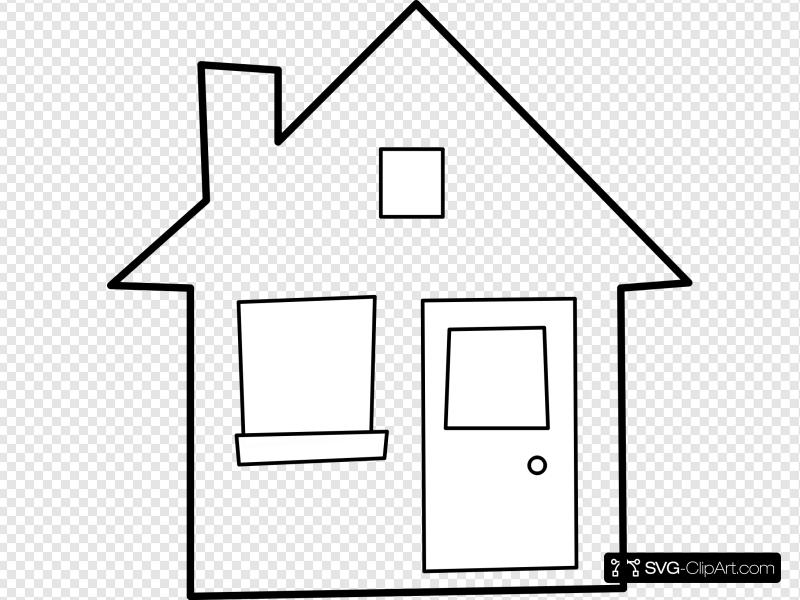 Maison / House Clip art, Icon and SVG.