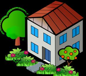 25184 clipart gratuit dessin maison.