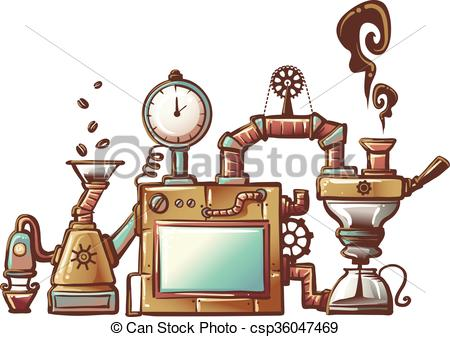 Steampunk Coffee Maker.