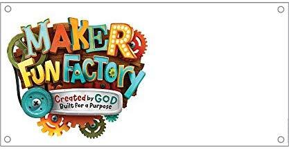 Maker Fun Factory LOGO Outdoor Banner (8ft.X 4ft.): Group.