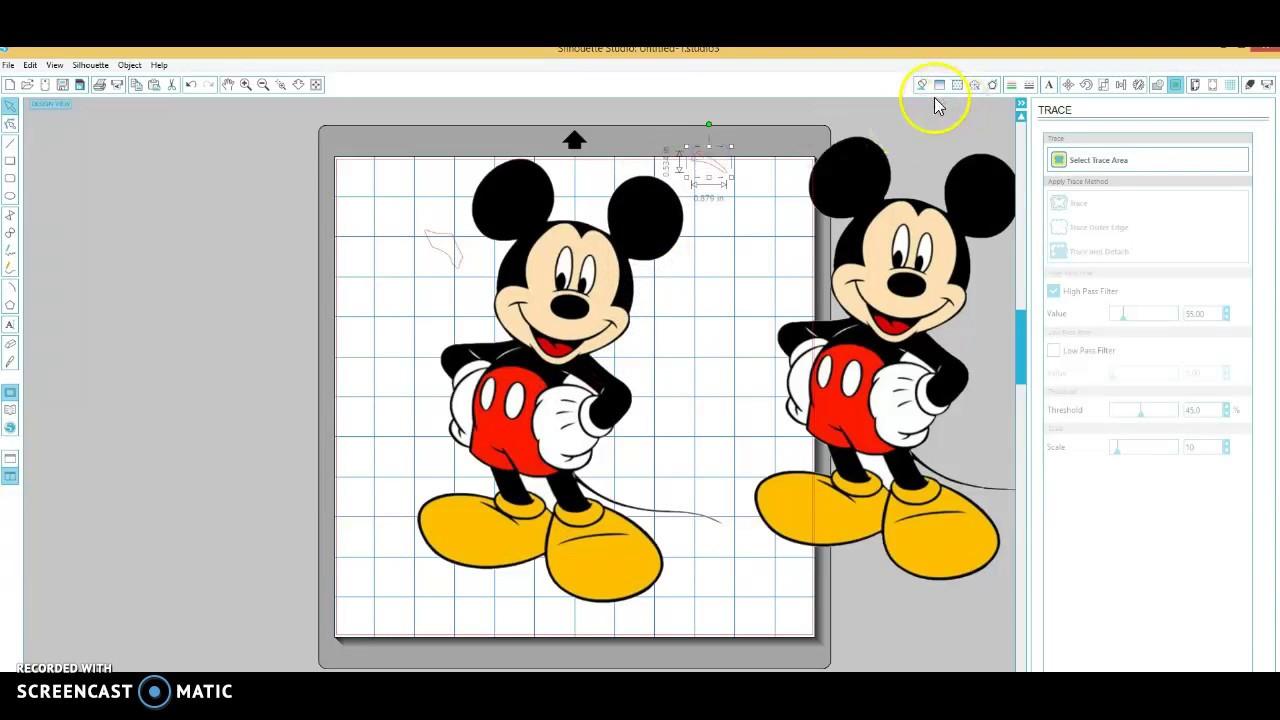 How to remove white background in silhouette design studio.