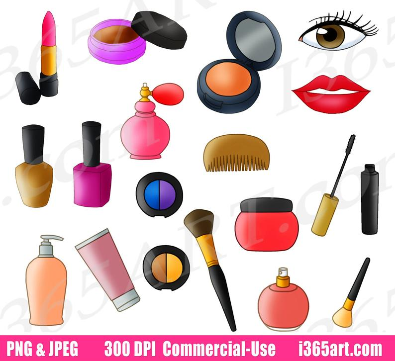 50% OFF Beauty Parlor Clipart, Makeup Set Clip Art, Cosmetics, Makeup, Make  up, Nail Polish, Lipstick, Accessories, PNG, Commercial.