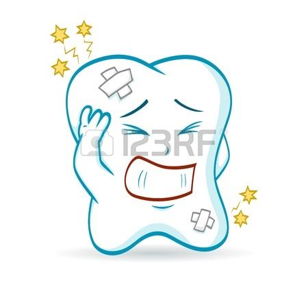 Une Illustration D'une Dent De Bande Dessinée, Qui A Mal Aux Dents.