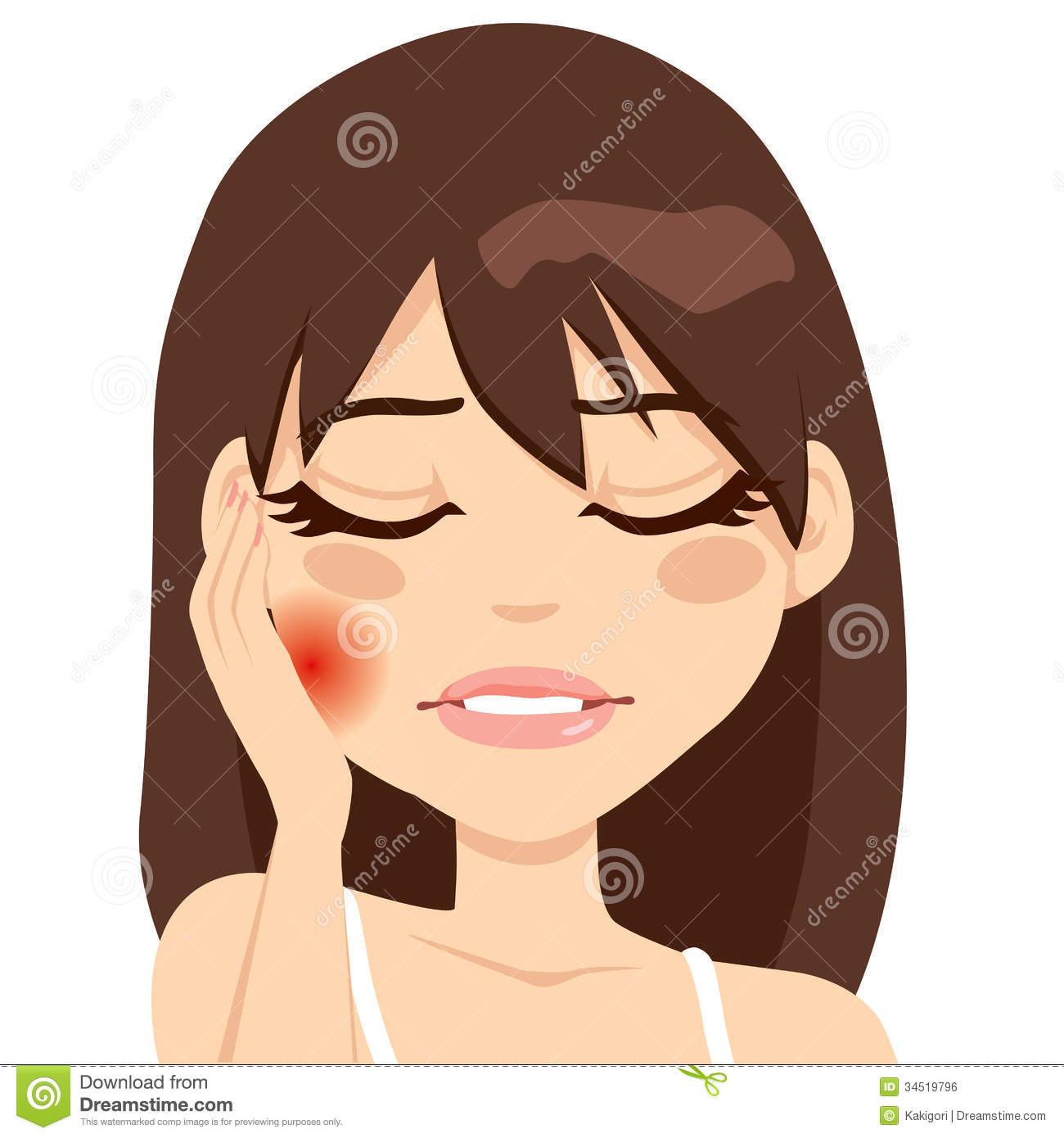 Woman Toothache Pain by Kakigori, via Dreamstime.
