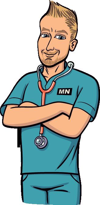 Male Nurse Cartoon Clipart.