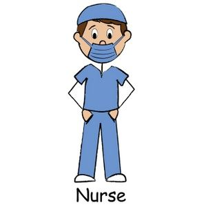 Male nurse clipart.