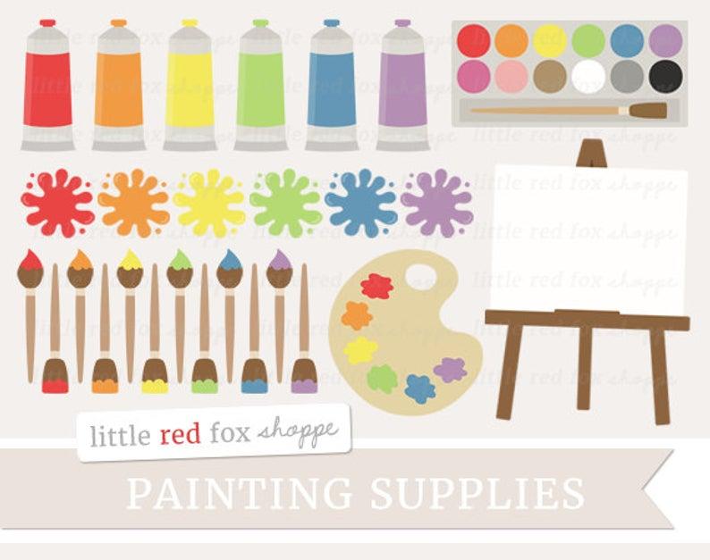 Malen Sie Versorgung Clipart, Malerei Clip Art Pinsel.