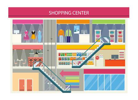 6,950 Shopping Center Stock Vector Illustration And Royalty Free.