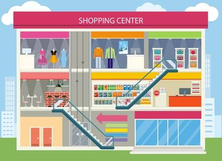 23,738 Shopping Mall Cliparts, Stock Vector And Royalty Free.