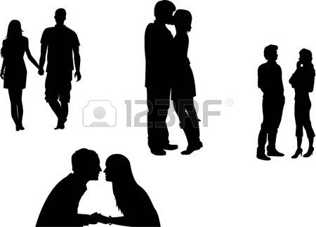 4422 couple holding hands stock vector illustration and royalty