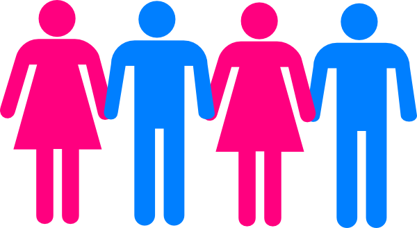 People Holding Hands Clipart Silhouette.