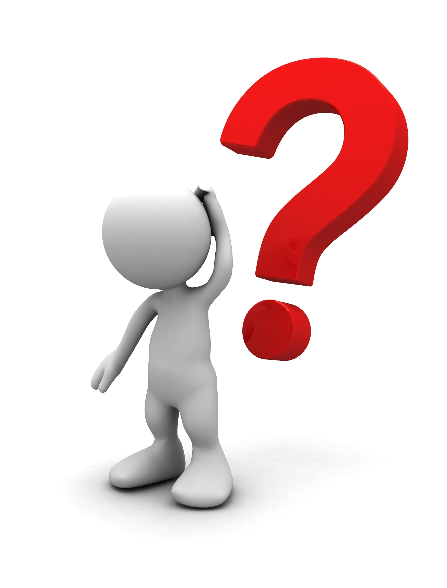 Person asking a question clipart.
