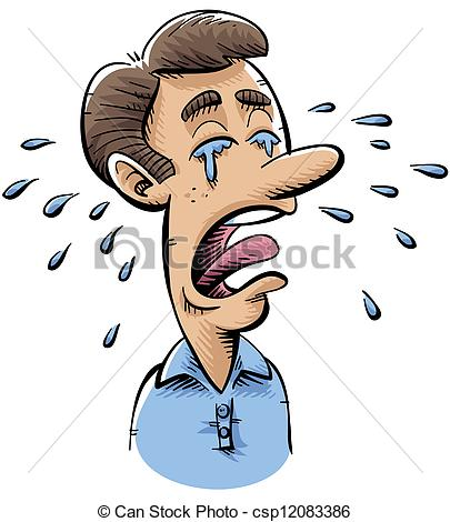 Clipart Man Crying.