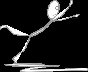 Grey Stick Man Falling Clip Art at Clker.com.
