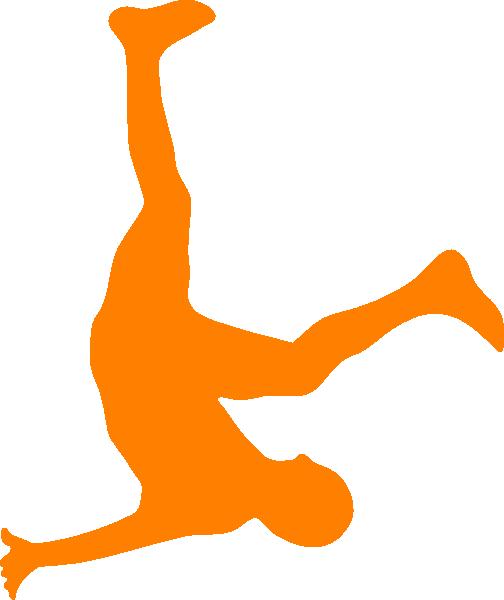 Falling Man In Organge Clip Art at Clker.com.