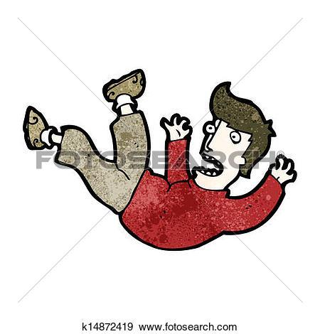Clipart of cartoon man falling k15536153.