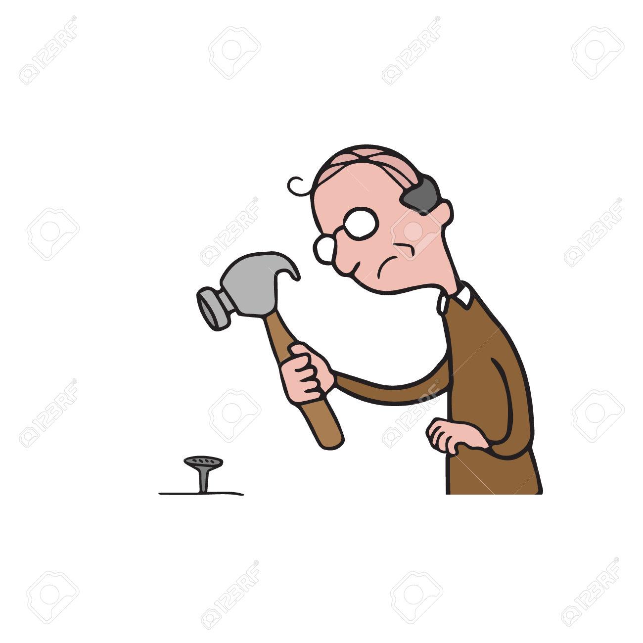 Clipart Man Hammer.