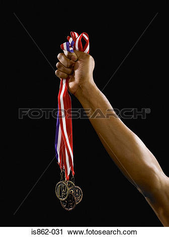 Stock Photography of Person holding medals is862.