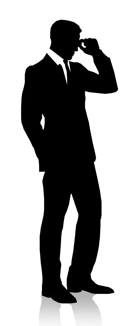 Man In Suit And Hat Silhouette Man Silhouette.